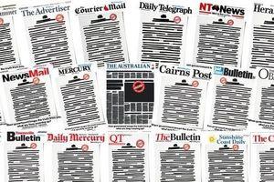 Tin tức thế giới 21/10: Các báo lớn ở Australia bất ngờ đồng loạt bôi đen trang nhất