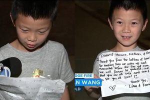 Cậu bé 7 tuổi cứu hàng xóm khỏi vụ hỏa hoạn
