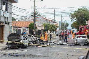 Brazil: Máy bay rơi xuống đường phố phát nổ khiến nhiều người thương vong