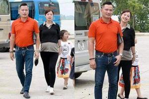 Jennifer Phạm phát tướng, vội nép sau chồng khi bị chụp lén ở tháng thứ 7 thai kì