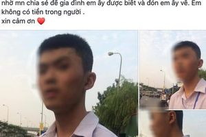 Nam sinh Nghệ An lạc đường khi đi 200km ra Hà Nội tìm bạn gái trên mạng