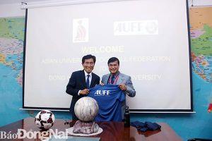 Hỗ trợ Trường đại học công nghệ Đồng Nai tham dự Giải bóng đá sinh viên châu Á 2020