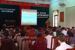 Lạng Sơn: Chú trọng tuyên truyền về công tác cán bộ và chống chạy chức, chạy quyền