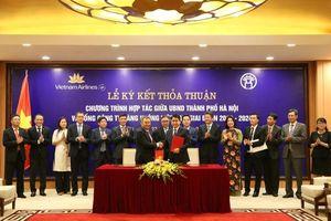 TP Hà Nội - Vietnam Airlines ký kết thỏa thuận hợp tác giai đoạn 2019-2024