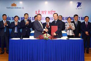 VNPT và Vietnam Airlines hợp tác chiến lược để khai thác tiềm năng, thế mạnh mỗi bên