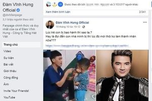 Facebook Đàm Vĩnh Hưng kích động bạo lực, vi phạm pháp luật cần bị xử lý