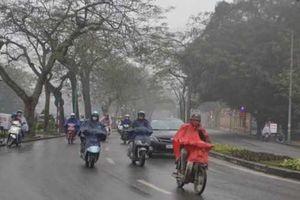 Chiều nay không khí lạnh tràn về, Hà Nội có mưa phùn