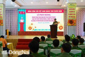 Phát động phong trào Toàn dân bảo vệ an ninh Tổ quốc tại Khu du lịch Vườn Xoài