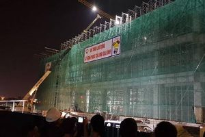 Hải Dương: Sập giàn giáo công trình xây dựng Trung tâm Văn hóa Xứ Đông