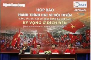 'Bài hát cổ động bóng đá Việt Nam': 10 ca khúc vào vòng chung khảo