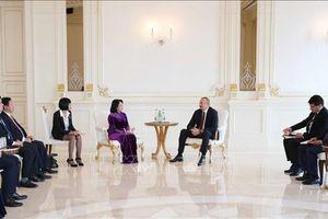 Phó Chủ tịch nước Đặng Thị Ngọc Thịnh hội kiến Tổng thống Azerbaijan Ilham Aliyev