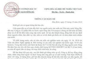 Công ty nước sạch Sông Đà chính thức xin lỗi sau nhiều ngày dân bức xúc