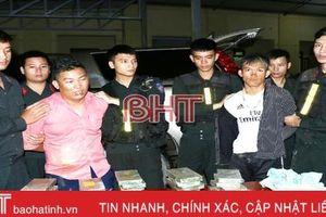 Bắt 2 đối tượng vận chuyển 30 bánh heroin, 6.000 viên ma túy tổng hợp từ Hương Sơn đi Vinh