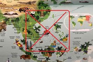 'Đường lưỡi bò' lại tiếp tục 'lặn ngụp' trong Atlas địa lý dành cho trẻ em