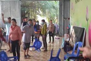 Gần 50 người xông vào Tịnh thất Bồng Lai đập phá đồ đạc