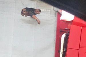 Cảnh người nhập cư tuyệt vọng đục lỗ trên thùng xe tải để thở gây sốc