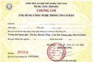 Phú Yên: Sử dụng chứng chỉ tin học không hợp pháp thi công chức