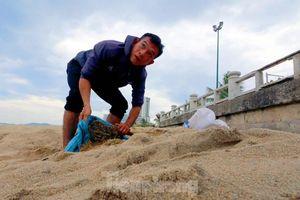 Dân Nha Trang ra biển xúc cát về chống bão