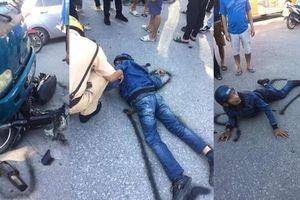 Tưởng chết khi va chạm xe tải, thanh niên bỗng ngồi dậy làm CSGT giật mình