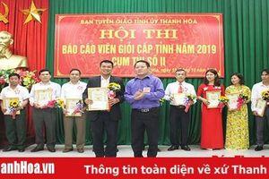 Ghi nhận từ Hội thi Báo cáo viên giỏi cấp tỉnh