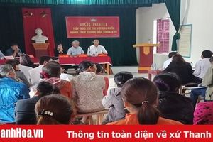 Đại biểu HĐND tỉnh tiếp xúc cử tri huyện Như Xuân