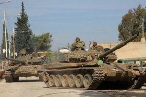 Quân đội Syria cùng vũ khí hạng nặng ào ạt trở lại thị trấn Tal Tamr
