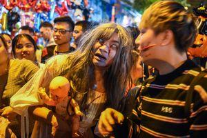 'Ma quỷ' xuất hiện ngập thủ đô đêm Halloween