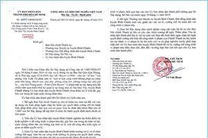 Cưỡng chế công trình vi phạm tại Gia Trang quán - Tràm Chim Resort