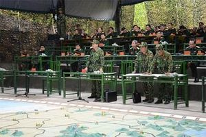Quân đoàn 1 hoàn thành diễn tập chỉ huy-tham mưu 1 bên 2 cấp trên bản đồ