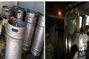 Chặn đứng 900 lít bia hơi không rõ nguồn gốc tuồn về Bình Phước bán kiếm lời