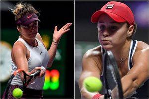 WTA Finals 2019: Ashleigh Barty gặp Elina Svitolina ở chung kết
