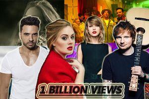Những MV cán mốc 1 tỷ lượt view nhanh nhất mọi thời đại trên Youtube