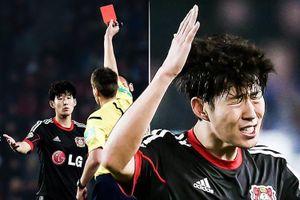 Son Heung-min nổi cáu khi nhận thẻ đỏ đầu tiên trong sự nghiệp