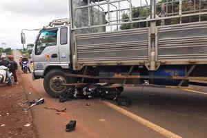Xe mô tô phân khối lớn tông xe tải, một người tử vong