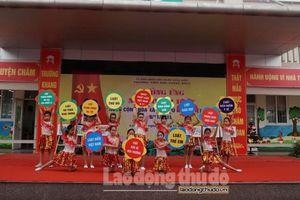 Ngành Giáo dục và Đào tạo quận Long Biên hưởng ứng Ngày Pháp luật Việt Nam