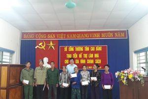 Sở Công Thương Cao Bằng hỗ trợ các hộ nghèo xây dựng nông thôn mới