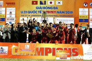 U21 Việt Nam nâng Cup vô địch giải U21 Quốc tế 2019