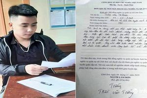'Hot boy' xứ Nghệ viết đơn xin nhập ngũ với lý do 'cực chất'