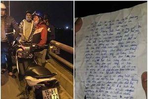 Nhói lòng lá thư tuyệt mệnh của người mẹ ôm 2 con nhỏ nhảy cầu tự tử
