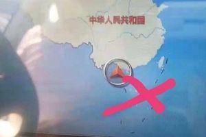 Đang làm thủ tục tịch thu 7 ô tô Trung Quốc có bản đồ đường lưỡi bò