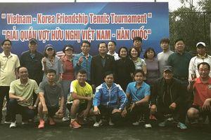 Sôi nổi Giải Tenis hữu nghị Việt - Hàn năm 2019