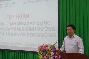 21 trường tiểu học tại Hà Giang chuẩn hóa thực đơn bán trú