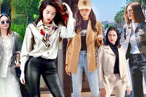 Mỹ nhân Việt phối layer trang phục 'chất lừ' trong loạt street style tuần qua