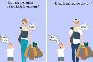 Bộ tranh 'lột trần' từng góc khuất về nghề làm mẹ khiến ai xem cũng phải gật gù công nhận: 'Đúng thế thật!'
