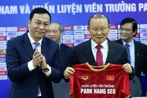 Sắc thái Park Hang Seo trong buổi ký hợp đồng mới với VFF