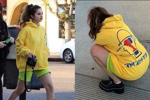 Nhí nhảnh như gái mới lớn, Selena Gomez xuống phố với trang phục màu sắc không giống ai