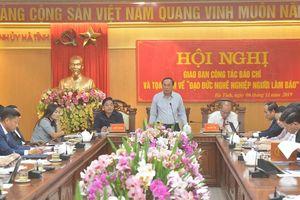 Hà Tĩnh: Lồng ghép giao ban báo chí và Tọa đàm 'Đạo đức nghề nghiệp người làm báo'