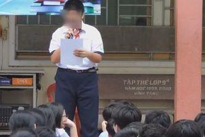 Công khai clip học sinh đọc bản kiểm điểm, hiệu phó thừa nhận đã làm sai