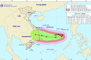 Báo số 6 giật cấp 15, hướng thẳng vào các tỉnh Quảng Ngãi - Khánh Hòa