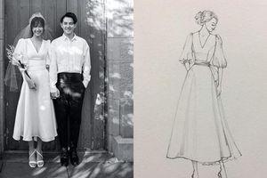 Váy chụp ảnh cưới của Đông Nhi được làm chỉ trong 1 tuần